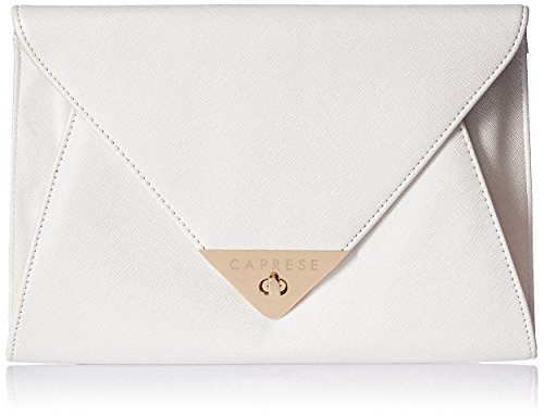 Caprese Audrey Women's Clutch (Metallic White)  available at amazon for Rs.1899