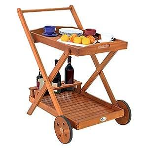 Chariot de service - Desserte à roulettes - plateau repas- tablette de rangement