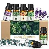 Etherische oliën, GLAMADOR etherische oliën set (6x10 ml), geurolie voor essentiële olie voor aromatherapie-diffusers, 100% zuivere oliën, etherische oliën voor diffusers