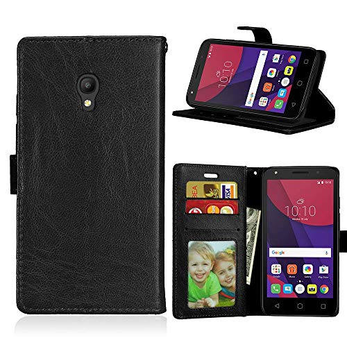 JEEXIA Funda para Alcatel Pixi 4 (5.0 Pulgada) 5045X 4G Version, Moda Business Flip...