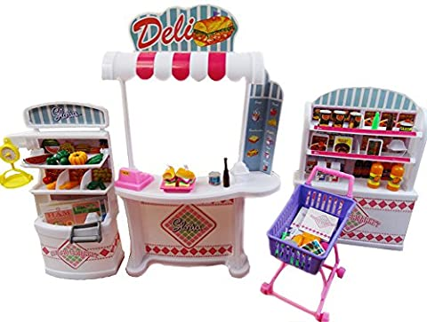 Luxueux 11.5'' Doll House Living Room Furniture Set-Supermarché