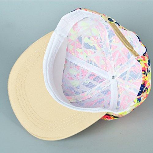 Thenice - Casquette de Baseball - Femme Multicolore multicolore Taille Unique Pattern beige