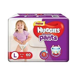 Huggies Wonder Pants Large Size Diapers (60 Count)
