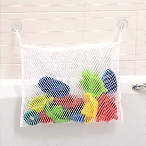 zeugnetz|Spielzeug Hängematte,Bad Spielzeug Organizer Bad Spielzeug Netz Badewanne Spielzeugnetz Trocknung Tasche Für Spielzeug, Befestigung Ohne Bohren Mit 2 Klebehaken ()