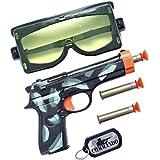 Plane-Militärausschusses (Brille-Pistole und Tischtennisbälle)