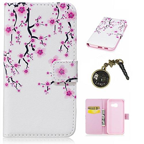Preisvergleich Produktbild PU Silikon Schutzhülle Handyhülle Painted pc case cover hülle Handy-Fall-Haut Shell Abdeckungen für Smartphone Samsung Galaxy A3 (2017) +Staubstecker (10)