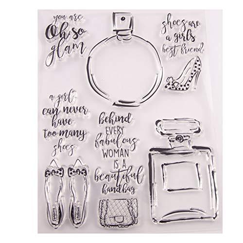 oukerst Parfüm Flasche Silikon klar Siegel Stempel DIY Scrapbooking Präge Fotoalbum dekorative Papier Karte Handwerk Kunst handgemachtes Geschenk