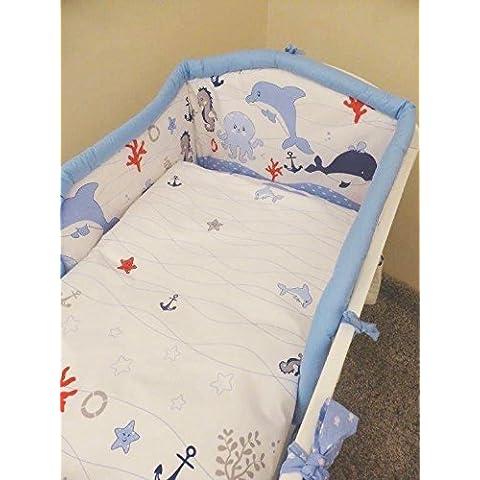 Nursery biancheria da letto, 3pezzi, SET per Culla, Lettino, Paracolpi, Federa e copripiumino