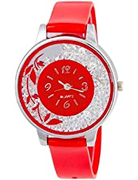 SPINOZA KNK-143L71 Beautiful Flower Desing On Glass Atractive And Fancy Watch For Girls