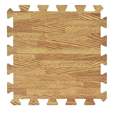 Elevin (TM) 3030cm nouveaux Mode bébé enfant antidérapant Jeu puzzle en mousse Splice Carpet Rugs Tapis de maison de cuisine salle à manger Salon Salon Chambre à coucher Tapis Tapis de sol, J, 30 cm * 30 cm