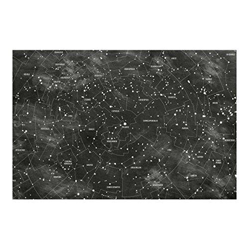 Vliestapete Sternbild Karte Tafeloptik, HxB: 225cm x 336cm