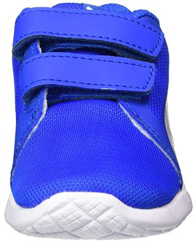Puma St Trainer Evo V Inf, Sneakers Basses Mixte enfant Bleu/blanc