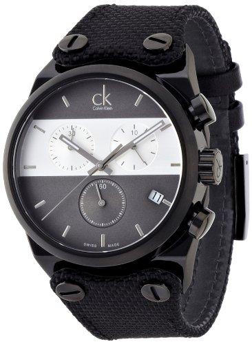 Calvin Klein Orologio Cronografo Quarzo Uomo con Cinturino in Tessuto K4B384B3