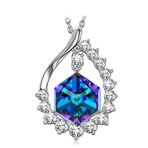 SIVERY 'Magie der Liebe' Farbe ändern Halskette, mit Swarovski Kristall, schmuck damen, halskette damen, geschenke für frauen