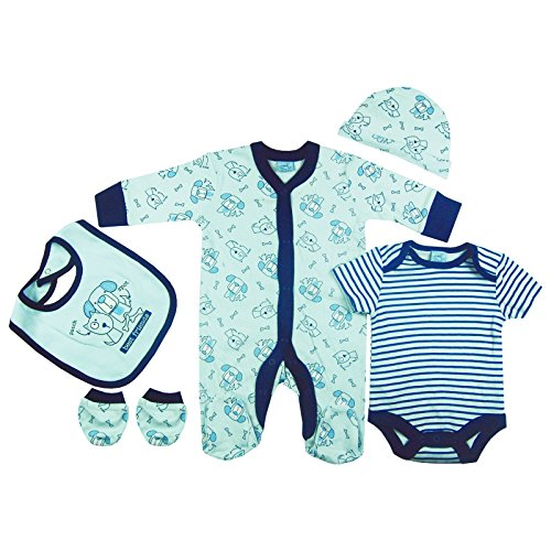 Baby-Boys Dog & Cat Presents Gifts for Newborn Baby Boys Toddler Unisex Cute Clothing Sets Sleepsuit Vest Bib Hat Outfits Bundles Pack