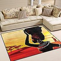 Ingbags Super Doux moderne africaine Femme Zone Tapis Tapis de salon Chambre à coucher Tapis pour enfants jouer solide Home Decorator Sol Tapis et moquettes 160x 121,9cm, multicolore, 63 x 48 Inch