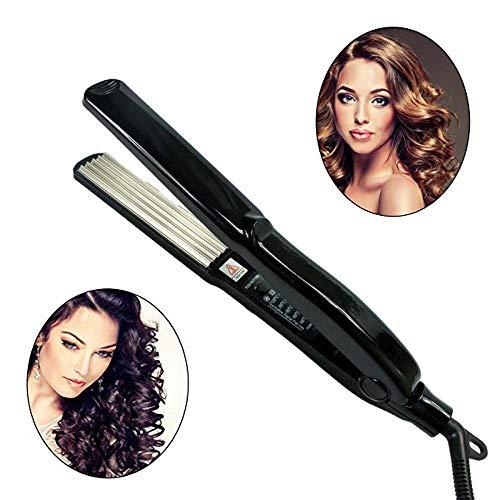 BDENINKK Breite Platte Haarglätter Mais Kleine Spule Elektrische Sperrholz Einstellbare Temperatur Kurze Haarschnalle Gerades Volumen Dual-Use-Lockenwickler - Clips 3 Sperrholz 4