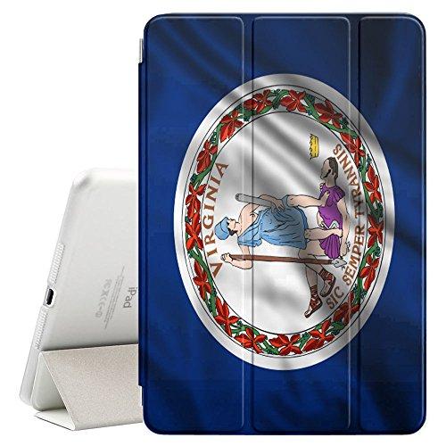 FJCases Virginia The Old Dominion State Wehende Flagge Smart Cover Tablet-Schutzhülle Hülle Tasche + Auto aufwachen/Schlaf Funktion für Apple iPad Mini 5 Old Virginia Mini