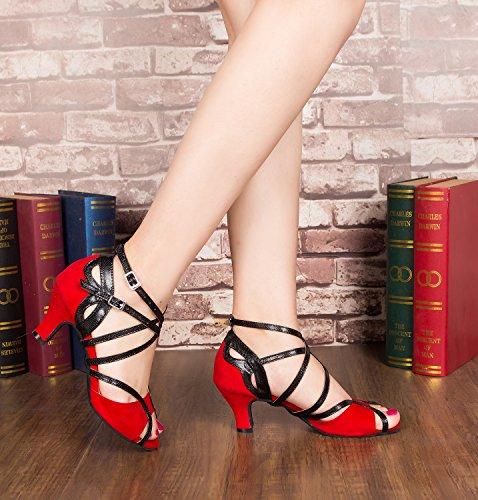 Minitoo ,  Damen Jazz, modern , Rot – Red-6cm Heel – Größe: 40 - 6
