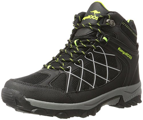 KangaROOS Unisex-Erwachsene Loop HI Hohe Sneaker, Schwarz (Jet Black/Lime), 46 EU
