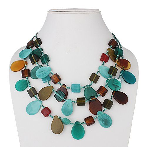 DCA Multicolor Glass Women Necklace (4230)