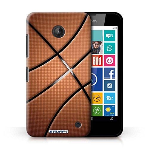 Kobalt® Imprimé Etui / Coque pour Nokia Lumia 635 / Football conception / Série Balle Sportif Basket-ball
