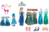 #8: Halo Nation Beautiful Frozen Doll Set with Accessories, Makeup Set Wardrobe Dresses Combo Doll Set for Girls (Blue Set)