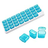 QHGao Pillbox 31 Giorni Pillbox Portatile Contenitore Pillola Organizzatore,Pillola Manager con Grande Cartuccia di Droga Mobile,Quotidiano Medico E Supporto di Vitamina,Ideale per I Viaggi