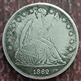 FKaiYin 1862 US Liberty Morgan Dollars Old One-Dollar Replica Münzen - Great American Coin-US Old Coins - USA Gedenkmünze - Future Experience -