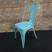 ZEZE-Industrial seat bar stools tin seat creative
