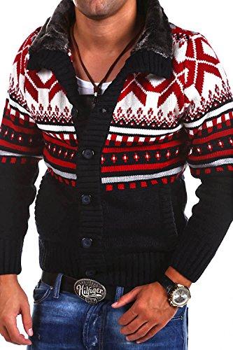 Carisma Strickjacke Norweger Pullover 7011 [Dunkelblau, XL]