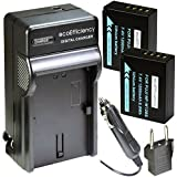 EcoEfficiency 2-Pack Of NP-W126S Batteries And Charger For Select Fujifilm FinePix Digital Cameras