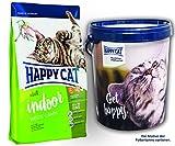 Happy Cat INDOOR Weide Lamm 2 x 10 kg = 20 kg + 1 x Futtertonne Happy Cat 20 Liter