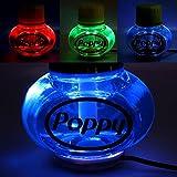 Poppy Lufterfrischer Tropical mit 7 Farben LED Multicolor-Beleuchtung 12V 24V für LKW KFZ Auto Wohnwagen Inhalt 150 ml