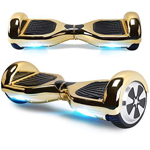 "BEBK Hoverboard, 6.5\"" Self Balance Scooter mit 2 * 250W Motor, LED Lights Elektro Scooter (Gold)"