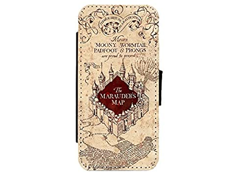 Harry Potter Marauders Map Leather Flip Phone Case Cover Harry Potter for iPhone & Samsung's
