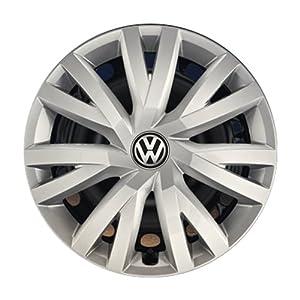 Volkswagen 5G0071456 YTI Radkappen Radzierblenden für Stahlfelgen - 4 Stück, Silber (Brillantsilber ), 16