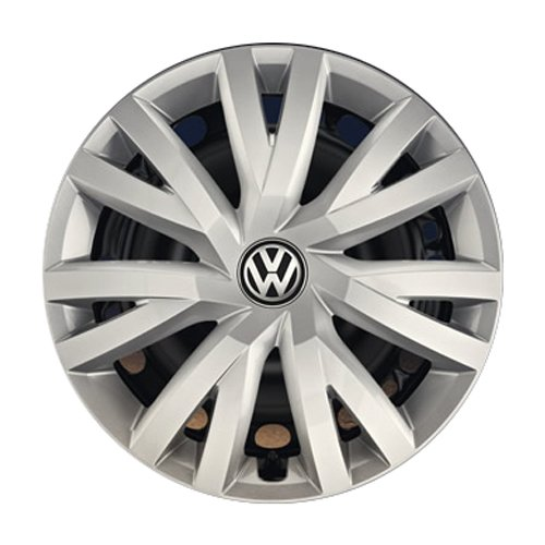 """Volkswagen 5G0071456 YTI Radkappen Radzierblenden für Stahlfelgen - 4 Stück, Silber (Brillantsilber ), 16\"""" Zoll"""
