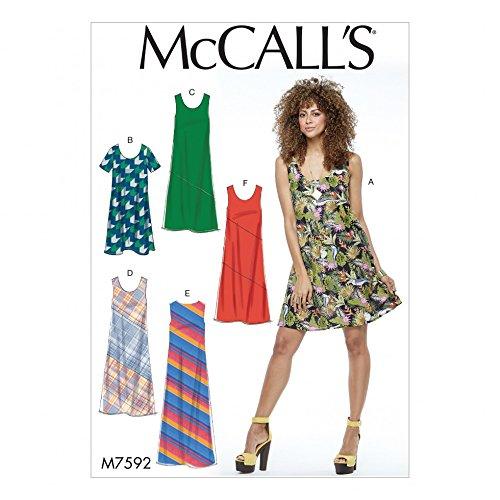McCall 's Damen Easy Schnittmuster 7592Pullover Bias Cut Tank Kleider (Damen-bias-cut)