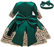 LZH Ragazza Gonna a Fiori in Pizzo 3D Senza Maniche Vestito da Principessa delle Feste
