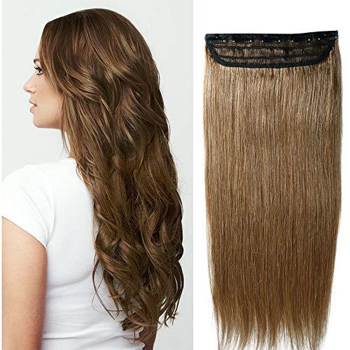 55cm 100g extension con clip one piece 5 clips capelli veri umani vari stili colori parrucca 06#