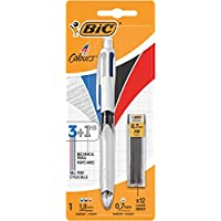 Bic 4 Colours Multifonction Stylo-bille rétractable pointe moyenne Couleurs Classiques