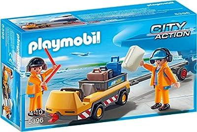 Playmobil 5396 - Flugzeugschlepper mit Fluglotsen von geobra Brandstätter Stiftung & Co. KG, de toys, GEOVR
