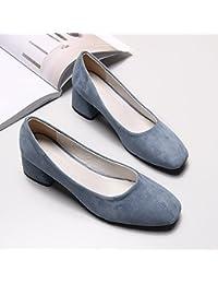 GAOLIM Chaussures Printemps Seul Épais Avec De Petites Chaussures À Tête Carrée, Chaussures À Talons Hauts Pour Les Femmes Pour Les Chaussures De Travail.