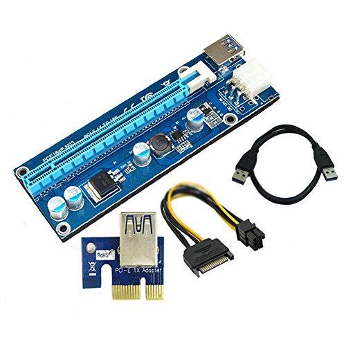 Hrph USB3.0 PCI-E Express 1x bis 16x Extender Riser Kartenadapter SATA 6Pin Netzkabel¡ -