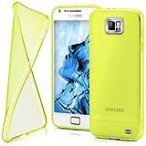 moex Samsung Galaxy S2 | Hülle Silikon Transparent Gelb Clear Back-Cover TPU Schutzhülle Dünn Handyhülle für Samsung Galaxy S2 / S2 Plus SII Case Ultra-Slim Silikonhülle Rückseite