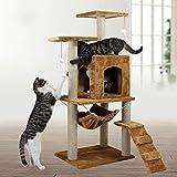 Kaxima 3 Platform Cat Tree Scratching Post Activity Centre Cat jumping, sisal, cat, giant tree climbing, cat climbing, 51cm*41cm*115cm