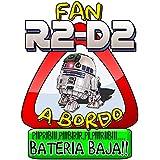 Pegatina Star Wars fan R2D2 a bordo