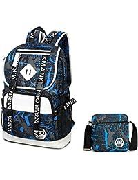 Wushiyan Men s shoulder bag Men s 2 In 1 Bag Set Oxford Cloth Shoulder Bag  Men s School Bag Waterproof Men s Travel Bag Suitable For… 9361c6fbad4ad