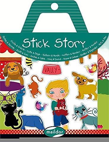 Sticker Geschichten kleben mit Stick Story - Katzen und